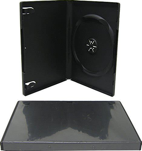 mediaxpo 25 Standard Single DVD Cases, 14mm, Black   Buy