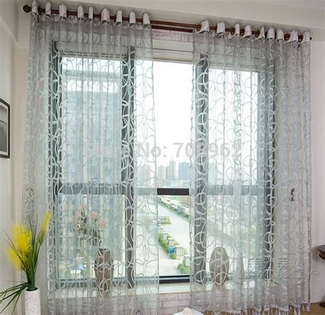geometric pattern sheer curtains shop popular colored sheer curtains from china aliexpress