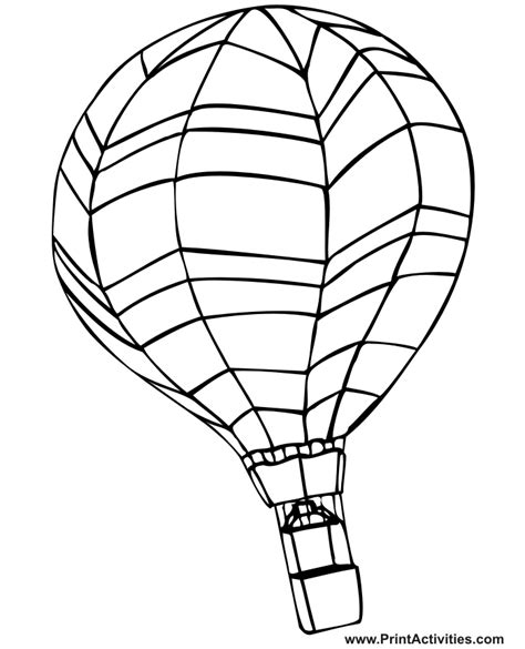 hot air balloon coloring page colouring pagescoloring