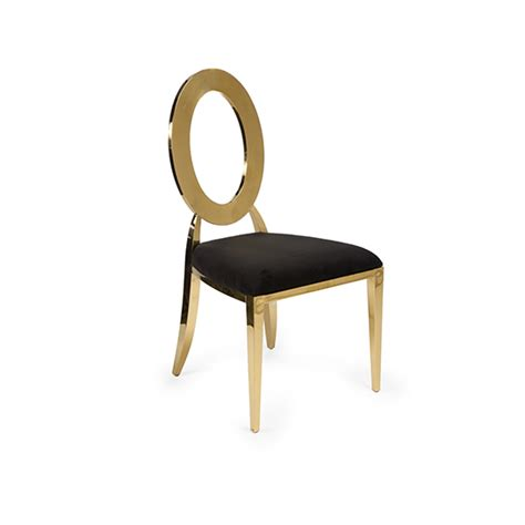oh chair gold black pad miami