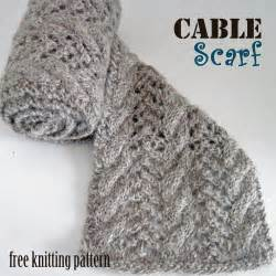 Free Cable Knit Scarf Patterns Knitting