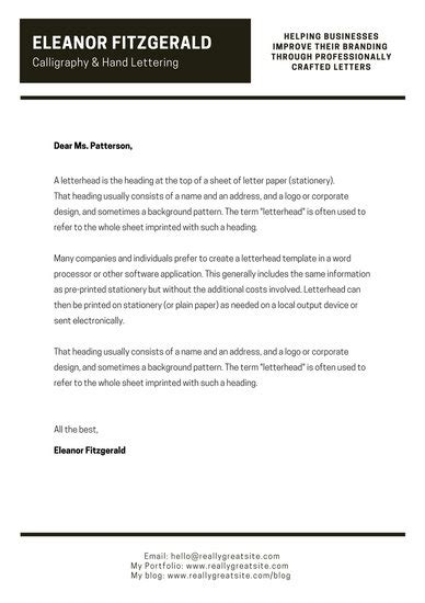 customize  business letterhead templates  page