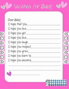 free printable baby shower wishes for the baby game With wishes for baby template printable