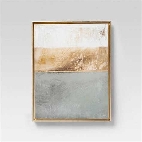 project  modern gray gold framed wall canvas