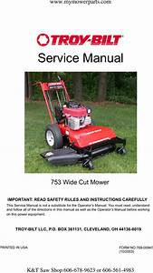 Wam    Troy Bilt White Outdoor 33 Inch Wide Cut Mower
