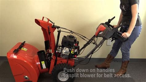 husqvarna  stage snow blower belt replacement youtube