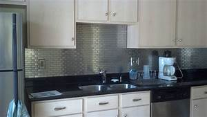 Modern ikea stainless steel backsplash homesfeed for Stainless steel tile backsplash