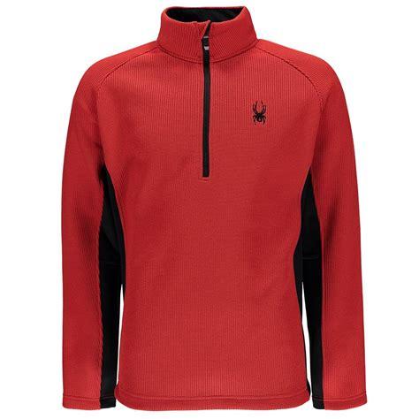mens half zip sweater spyder outbound half zip midweight sweater 39 s