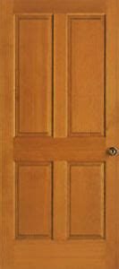 panel raised clear stain grade hemlock solid core