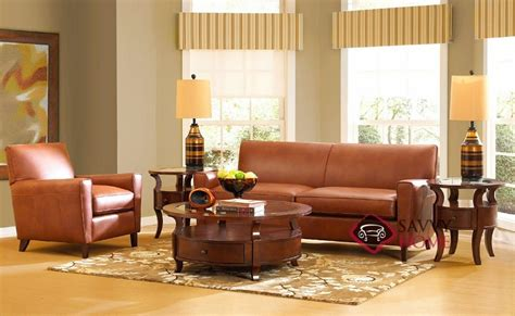 Leather Sofa Glasgow by Glasgow Leather Stationary Sofa By Savvy Is Fully