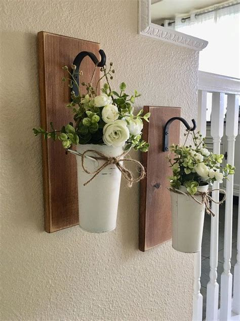 farmhouse living room decor hanging planter  greenery