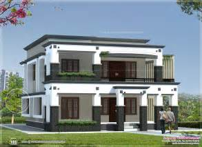 Flat Houses Designs Pictures by 241 Square Meter Flat Roof House Kerala Home Design And