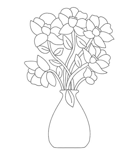 top   printable flowers coloring pages