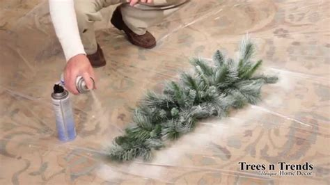 can you spray paint xmas tree white how to flock or snow spray a tree wreath or garland