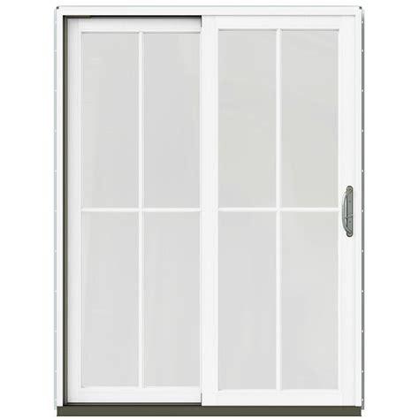 simonton patio doors home depot simonton 143 5 in x 79 5 in 4 panel contemporary vinyl