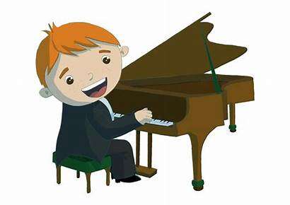 Piano Playing Clipart Boy Child Children Ages
