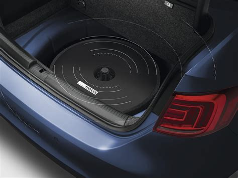 volkswagen tiguan spare tire mount subwoofer soundbox conjunction dsp 000051419b
