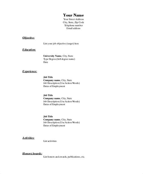 Draft Cv Format by Format For Resume 4 Blank Invoice