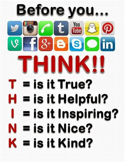 Think Cyberbullying Before Something Bullying Internet Digital