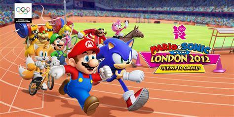 mario sonic   london  olympic games nintendo