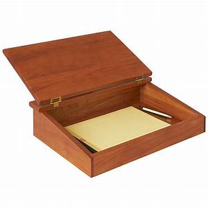 Lap Desk - Writing Lap Tray With Storage Manchester Wood