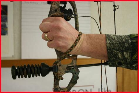Bow Sling Installation On A Compound Bow