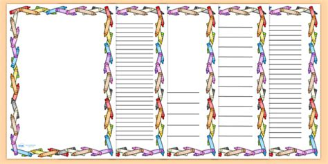 crayon page borders colouring colouring