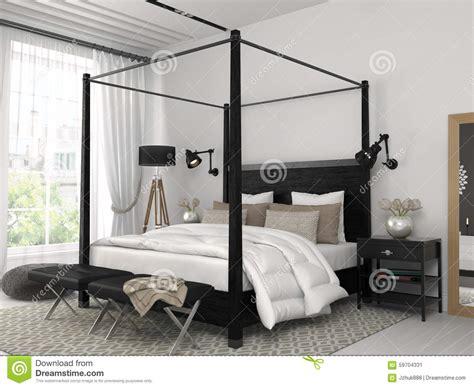 chambre avec lit noir chambre a coucher moderne et noir