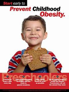 Start Early To Prevent Childhood Obesity - Preschooler  Poster