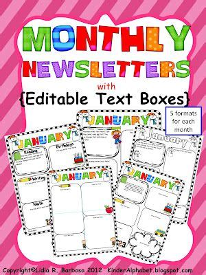 Free Editable Newsletter Templates by Editable Newsletters For Parent Communication
