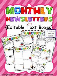 editable newsletters for parent teacher communication With free monthly newsletter templates for teachers