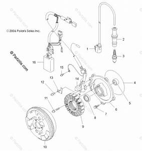 Polaris Atv 2007 Oem Parts Diagram For Engine  Magneto