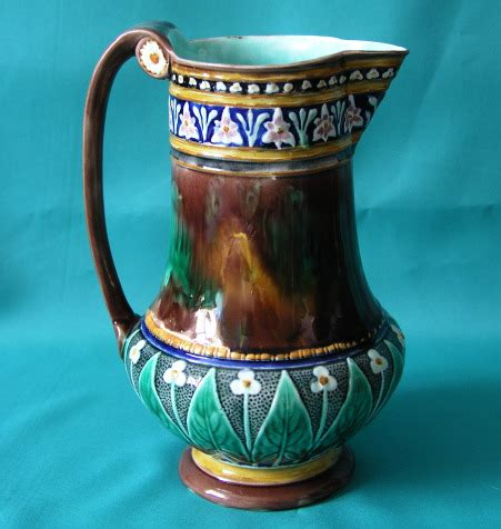 vintage ceramic ls a wedgwood majolica jug c 1867 3169