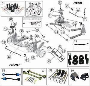 Diagrams For Jeep    Suspension Parts    Wrangler Tj  1997