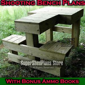professional shooting bench plans build   bench