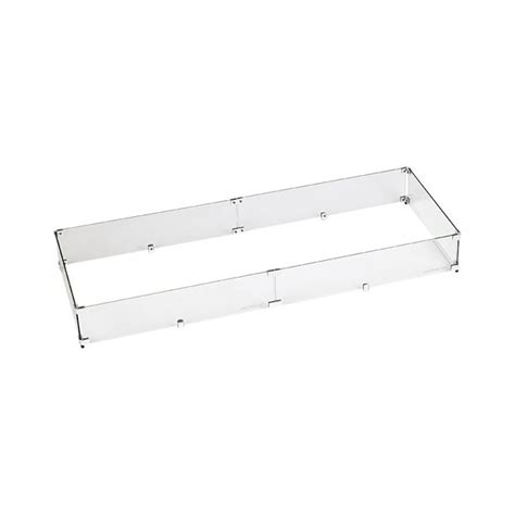 Complement your outdoor fire pit with a fire pit wind guard. American Fireglass Fire Pit Glass Wind Guard, Rectangular ...