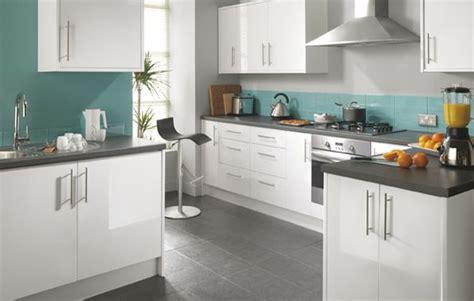 white  teal kitchens fairmount white gloss kitchen
