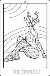 Coloring Sheets Tarot Credit Etsy sketch template