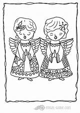 Coloring Angels Choir Angel Singing Crafts Praying Joy Activities Stars Heavenly Holly Colors Guide sketch template