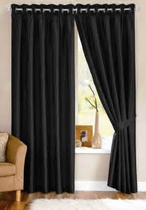 Curtains Decor by Modern Black Curtain Decorating Ideas Room Decorating