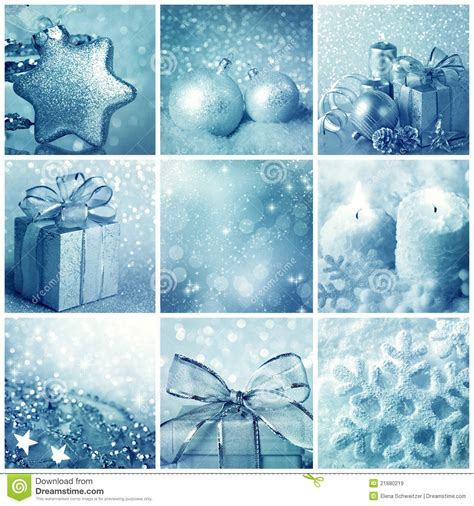 blue christmas collage stock image image  decorate
