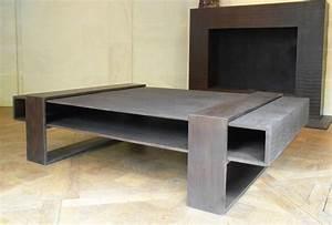 Table Basse En Beton : atelier taporo mobilier tables basses design en beton ductal lafarge ~ Farleysfitness.com Idées de Décoration