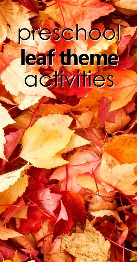 preschool fall leaf theme activities fantastic 322 | preschool leaf theme pin 534x1024