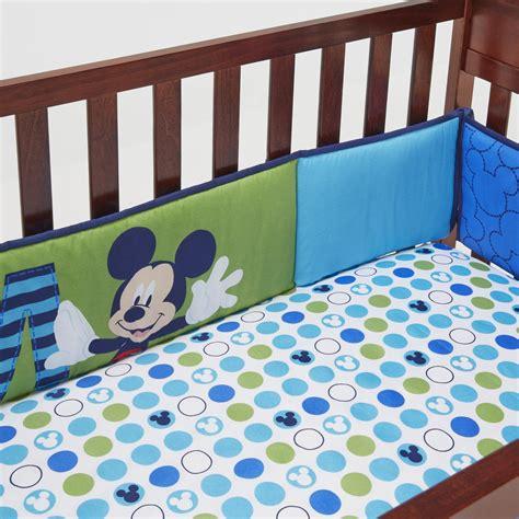 crib bumper pad inserts disney secure me crib bumper pads mickey mouse