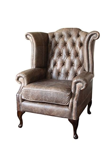 handmade chesterfield high back wing chair in