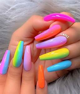 43 neon nail designs that are for summer stayglam