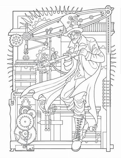 Steampunk Coloring Pages Getdrawings Printable Getcolorings