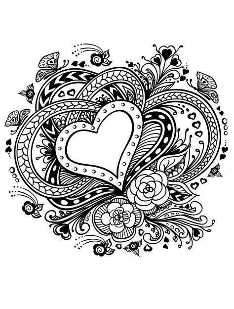 Coloring Page For Adults by Valentines Day Coloring Pages For Adults Best Coloring