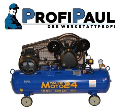 profipaul 174 der werkstattprofi profipaul kompressor 10 bar 100 l cl 600 10 100