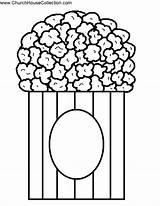 Popcorn Template Coloring Printable Clipart Pages Pop Kernel Cutout Bible Open Templates Clip Craft Cliparts Sheets Bulletin Idea Board Fall sketch template